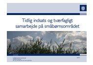 Oplæg om tidlig indsats og tværfagligt samarbejde, 16 ... - mitBUF.dk
