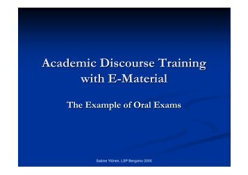 2 Academic Discourse Training with E-Material - euromobil
