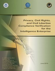 Privacy, Civil Rights, and Civil Liberties Compliance Verification for the