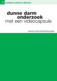 Dunne darmonderzoek met een videocapsule - Mca
