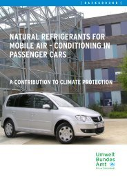 natural refrigerants for mobile air - conditioning in passenger cars