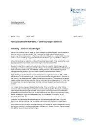 Les hele høringsuttalelsen (PDF) - Human-Etisk Forbund