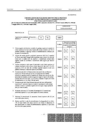 Supplemento ordinario n. 207 alla GAZZETTA ... - Gazzette.info