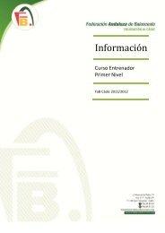 Información Curso I Nivel - Federación Andaluza de Baloncesto