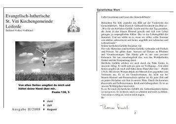ausgabe-2-2008-juni-august - St. Viti Kirchengemeinde Leiferde