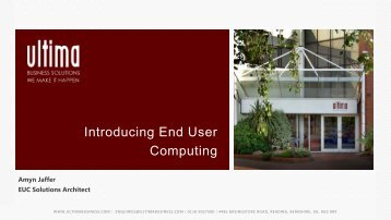 End User Computing - Amyn Jaffer - Ultima Business Solutions