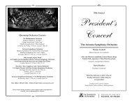 President's Concert - School of Music - University of Arizona