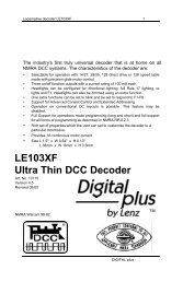 LE103XF Booklet - Lenz USA