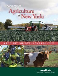 Planning for Agriculture in New York - American Farmland Trust
