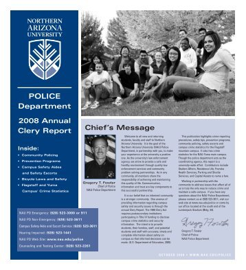 A51986 Police Report - www4 - Northern Arizona University