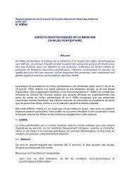 Intégralité du rapport les aspects déontologiques de la médecine ...