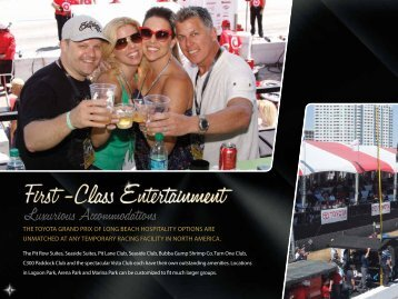 Pit Row, Seaside and Lagoon suites - Toyota Grand Prix of Long ...