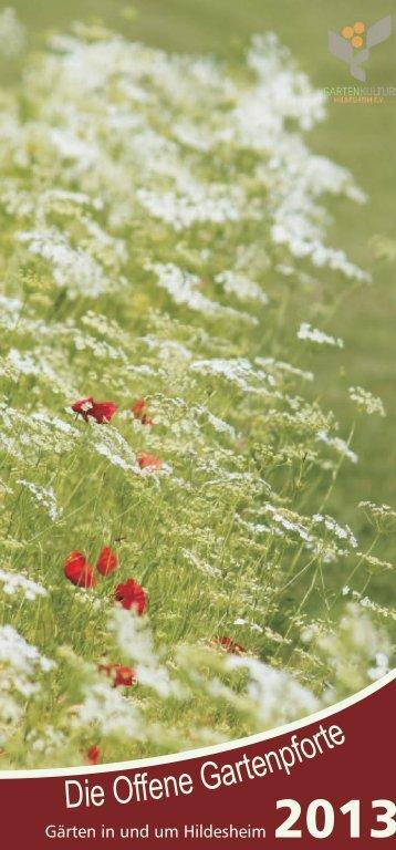 Broschüre zum download - Offene Gartenpforte