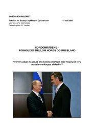 forholdet mellom norge og russland - Forsvarsakademiet
