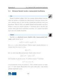 Zkrácená lineární rovnice s konstantními koeficienty