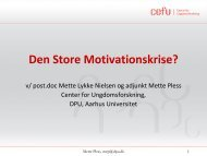 Download Mette Lykke Nielsen og adjunkt Mette Pless's slides her