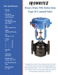 Heavy Duty 596 Series Iron Type SI Control Valve - Steamshop