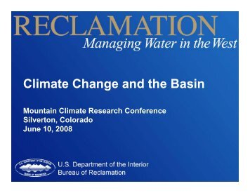 Climate Change and the Basin