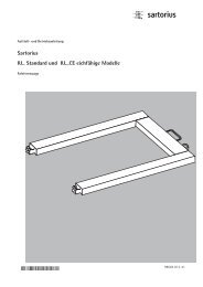 Sartorius IU.. Standard und IU...CE eichfähige Modelle - Waagen ...