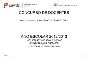 concurso de docentes ano escolar 2012/2013 - Dgrhe.min-edu.pt