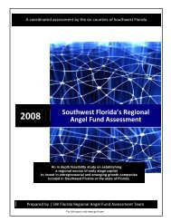 2008 Southwest Florida's Regional Angel Fund Assessment