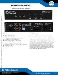 Data Sheet - Atlas Sound