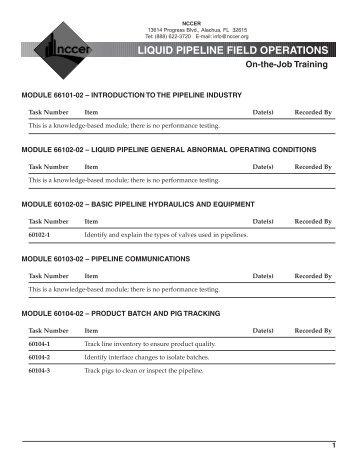 P-Liq Pipeline Field Ops.pdf - NCCER