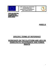 Terms of Reference for the Workshop on the Africa-EU Platform for ...