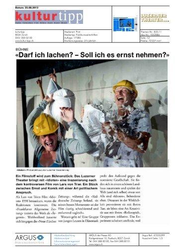 einen Vorbericht - Luzerner Theater