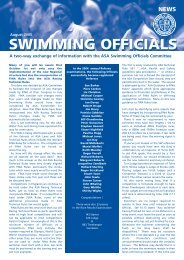 SWIMMING OFFICIALS SWIMMING OFFICIALS - F.i.g.