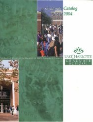 2002-2004 - University Catalogs - University of North Carolina at ...