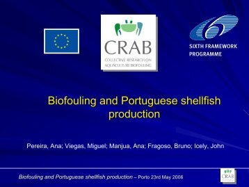 Biofouling and Portuguese shellfish production - CRAB