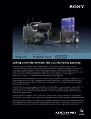Sony PDW-700 / PDW-HD1500 preliminary brochure - Creative Video