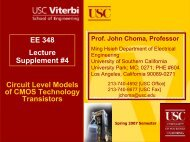 + V - USC Ming Hsieh Department of Electrical Engineering ...