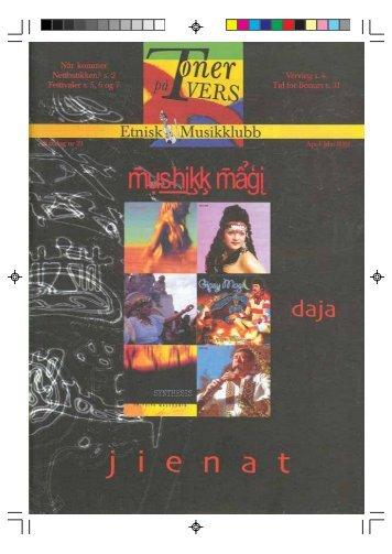 Fredag 20. April - Velkommen til Etnisk Musikklubb