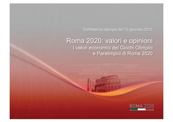Roma 2020: valori e opinioni - Comune di Roma