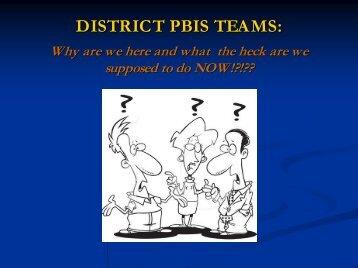 What is a PBIS Leadership Team - Roseburg Public Schools