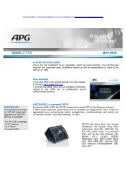 NEWSLETTER MAY 2005 - APG