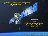 A global 3D aerosol climatology from CALIPSO/CALIOP - AeroCom
