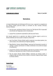 Nomination de deux nouveaux Directeurs Généraux Délégués à ...