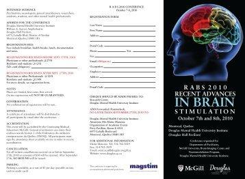 conference program schedule - Institut universitaire en santé ...