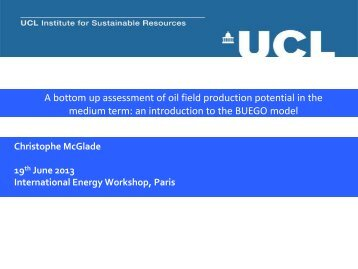 A bottom up assessment of oil field production potential in the ...