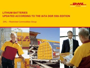 Lithium Battery Restrictions Country List - DHL