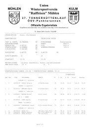 Ergebnisse als pdf-Datei - WSV Mühlen