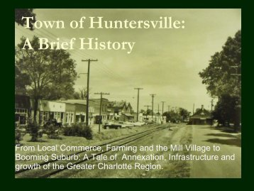 History of the Town of Huntersville