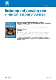 Designing and operating safe chemical reaction processes HSG143