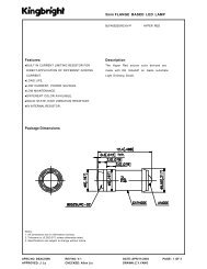 Features Package Dimensions 5mm FLANGE BASED LED LAMP ...