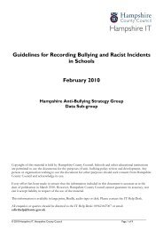 Guidelines for recording bullying and racist incidents in schools