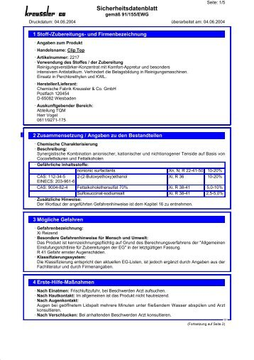Download Sicherheitsdatenblatt - Pluemergmbh.de