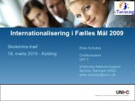 Internationalisering i FællesMål 2009 - SkoleIntra